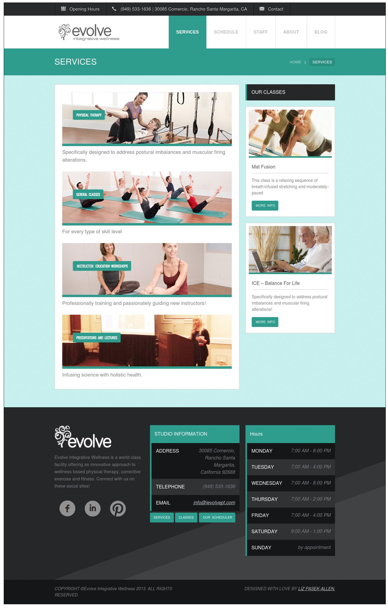 Evolve Website : Liz Pasekal Design